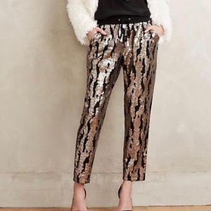 Anthropologie Hei Hei Sequins Joggers Size XS
